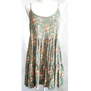 Cecico floral sundress strappy dress Large